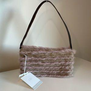 VINTAGE Paola Frani Rabbit Fur Shoulder Bag